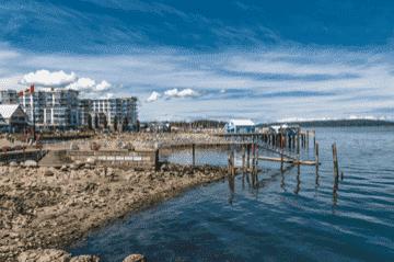 Saanich Peninsula waterfront in Victoria BC