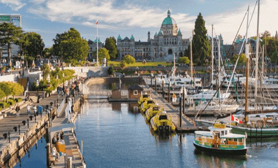 Victoria British Columbia harbour in summer