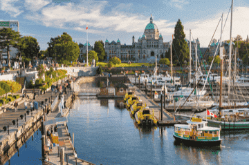 Victoria British Columbia harbour in summer
