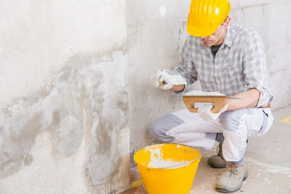 cleaning mold damage from bad plumbing