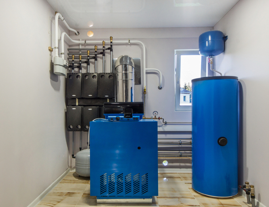home heating system in a residential home